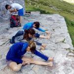 stretching e yoga al rifugio