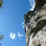 un climber sul settore centrale