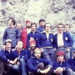 1975 anno di fondazione: gli Istruttori delle Scuola di alpinismo Renzo Cabiati